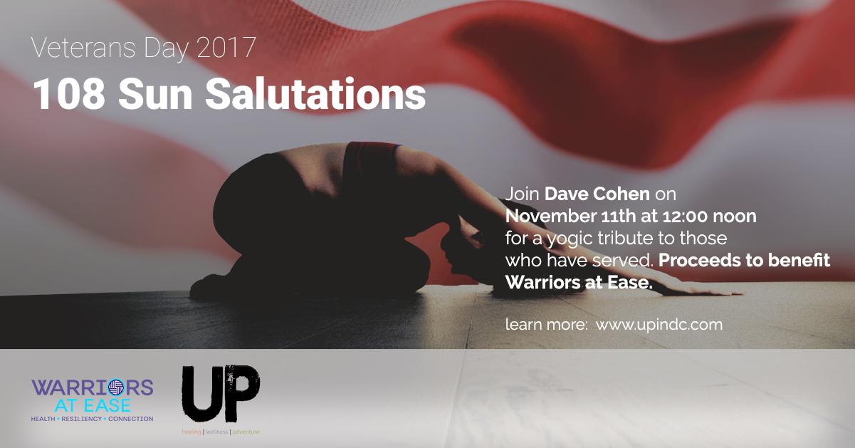 108 Sun Salutations for Veterans Day